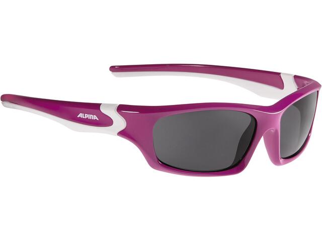 Alpina Flexxy Teen Glasses Kids berry-white